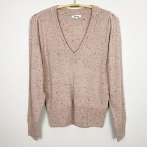 MADEWELL Donegal Westgate V-Neck Sweater M Blush